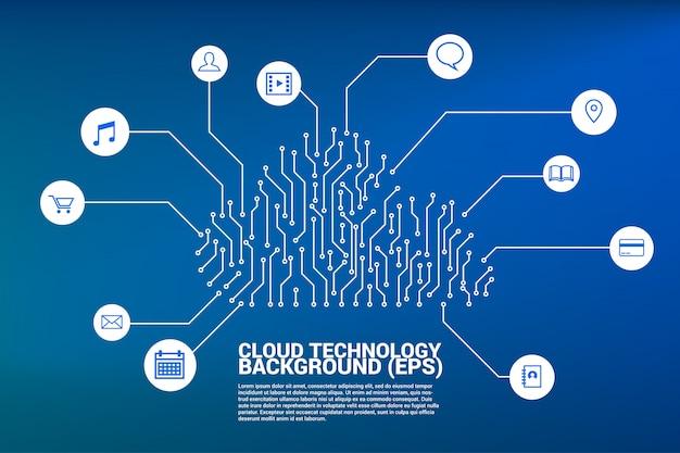 Technologie de réseau informatique en nuage à partir de circuits imprimés