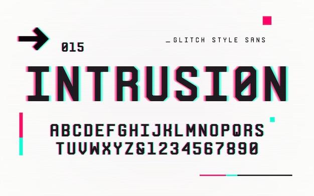 Technologie san serif lettres majuscules et chiffres