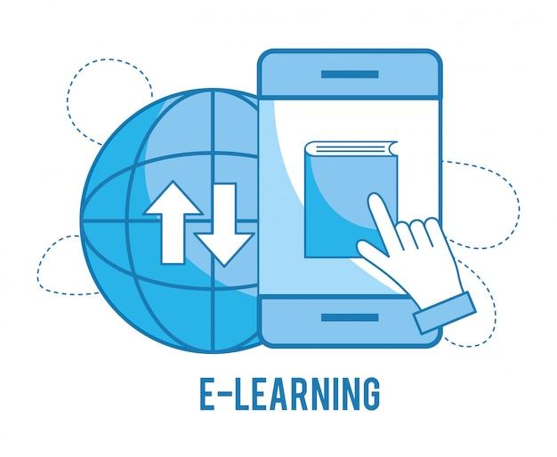 Technologie de smartphone d'éducation avec étude globale