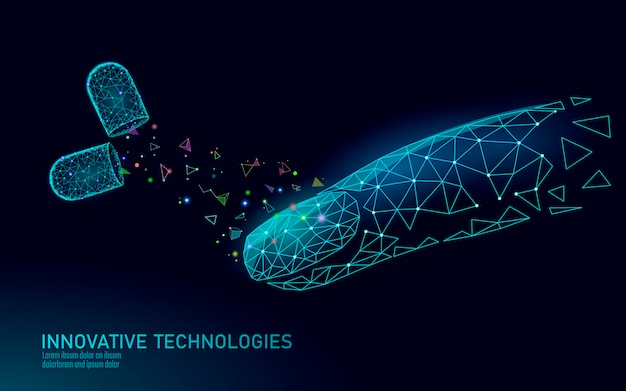 Technologie de soin des suppléments d'ongles modernes low poly. naturel innovant