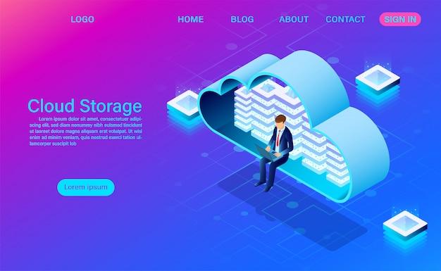 Technologie de stockage en nuage et modèle de page de renvoi en réseau