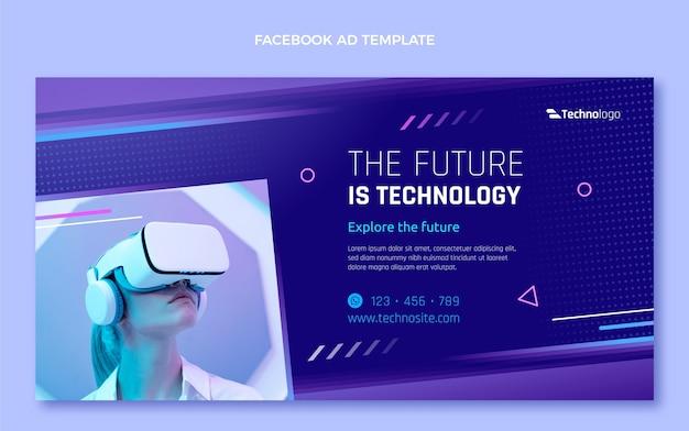 Technologie de texture dégradée facebook