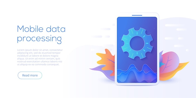 Technologie de traitement des données mobiles en isométrique. système de stockage et d'analyse des informations.