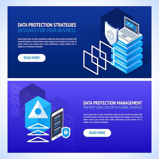 Technologie de transmission de données et bannières de protection des données