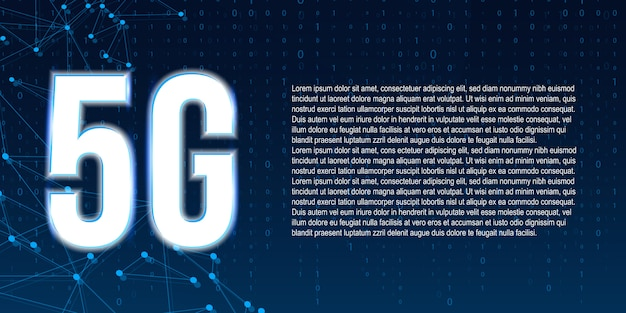 Technologie de transmission du signal 5g, internet wifi.