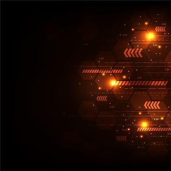 Technologie vectorielle dans le concept du numérique.