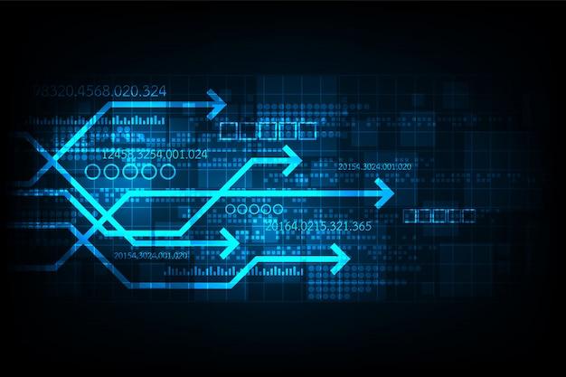 Technologie vectorielle qui représente la communication numérique.