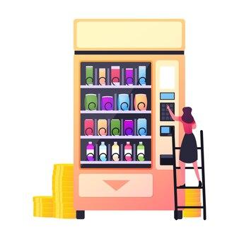 Technologie de vente au détail pour la vente de la production de restauration rapide.