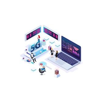 Technologie de vitesse internet isométrique moderne pour le développement de la technologie de communication