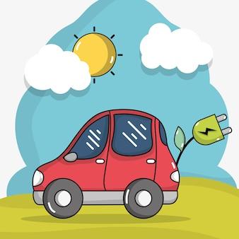 Technologie de voiture électrique avec câble d'alimentation