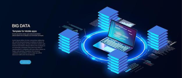 Technologies numériques. analyse du système numérique de l'entreprise. graphique de croissance de l'entreprise. programmation, test du code multiplateforme contexte numérique. cube, boîte, blockchain se compose d'une matrice de chiffres.