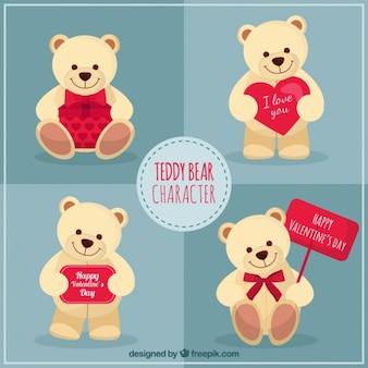 Teddy bear jour caractère valentine
