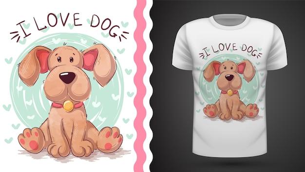Tee-shirt chien, chiot - idée d'impression