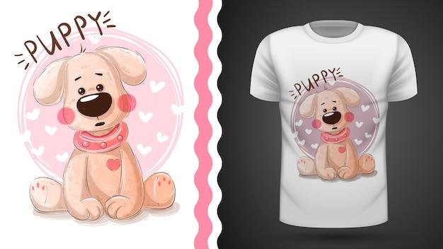Tee-shirt chiot mignon - idée d'impression