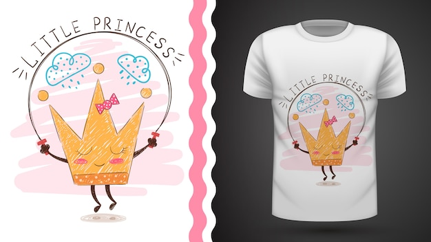 Tee-shirt idée couronne en or à imprimer