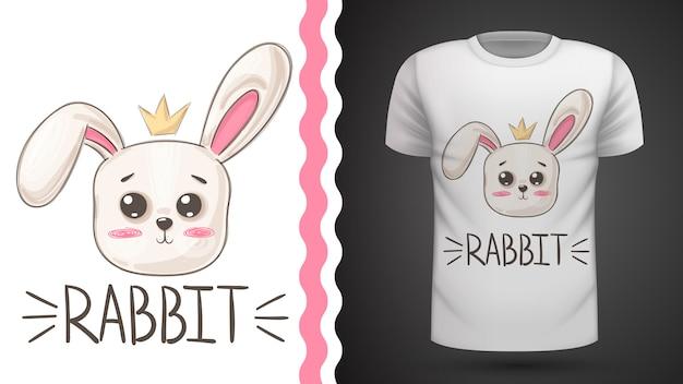 Tee-shirt idée de lapin mignon pour imprimer