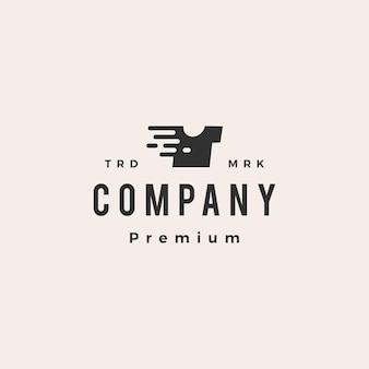 Tee-shirt logo vintage hipster numérique rapide rapide dash