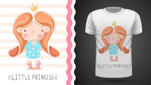 Tee-shirt petite princesse - idée d'impression