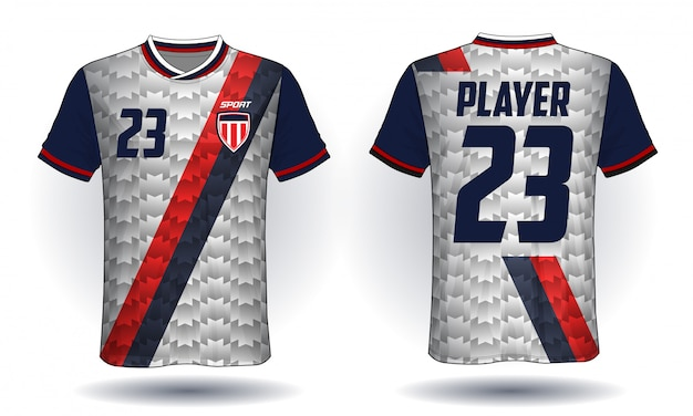 Tee-shirt sport jersey de football
