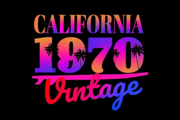 Tee shirt typographie californie vintage dégradé rétro