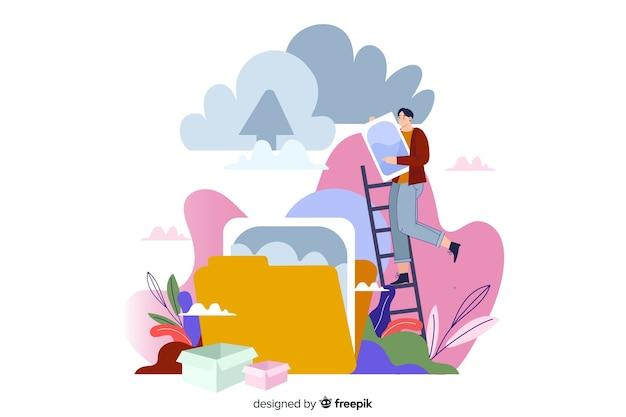 Téléchargement d'image pour la page de destination