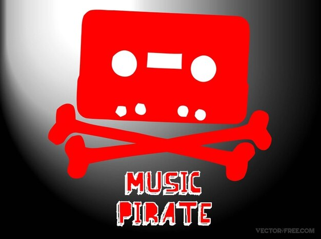 Téléchargement vecteur de piratage de musique