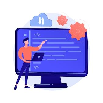 Téléchargement vers le stockage cloud. accès sans fil aux informations. service en ligne, hébergement global, espace virtuel. bureau disponible et sécurisé. illustration de métaphore de concept isolé de vecteur.
