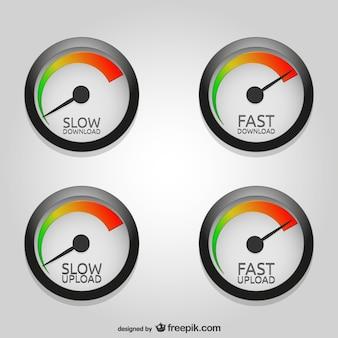 Téléchargement de vitesse vecteur de téléchargement art