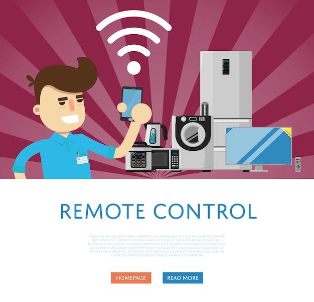 Télécommande pour le concept d'appareils ménagers