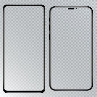 Téléphone intelligent avec fond transparent