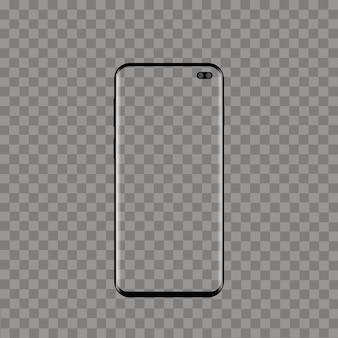 Téléphone intelligent moderne réaliste sur fond transparent. vecteur