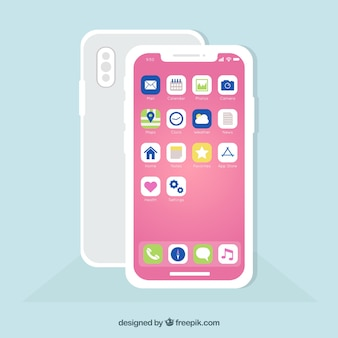 Téléphone mobile avec applications