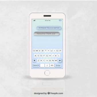 Téléphone mobile avec chat app