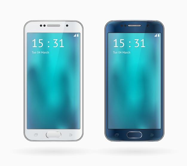 Téléphone mobile isolé sur fond blanc