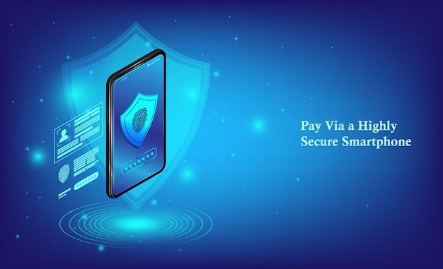 Téléphone mobile isométrique et services bancaires par internet