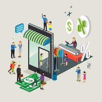 Téléphone mobile de technologie d'affaires pour la boutique en ligne e-commerce