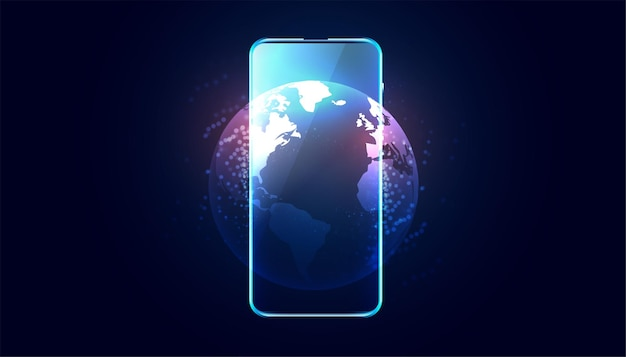 Téléphone portable avec conception d'affichage de la terre