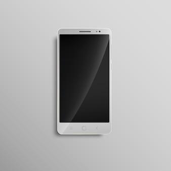 Téléphone portable à écran tactile blanc moderne.