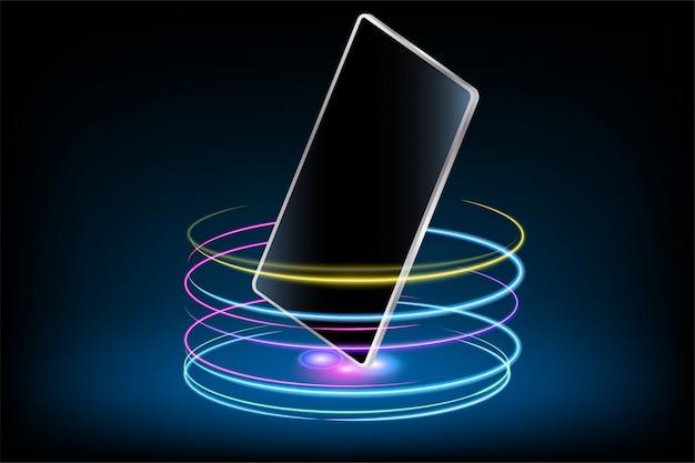 Téléphone portable avec effet glow
