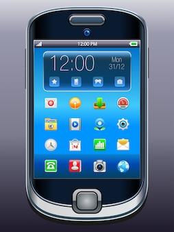 Téléphone portable avec des icônes