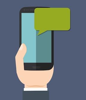 Téléphone portable de messagerie instantanée