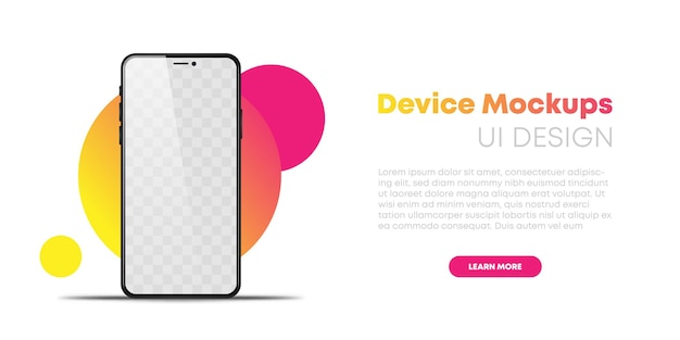 Téléphone réaliste sur fond blanc vecteur eps10. téléphones mobiles smartphone mockup