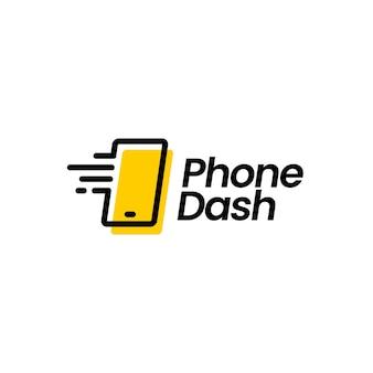Téléphone tiret logo vector icône illustration