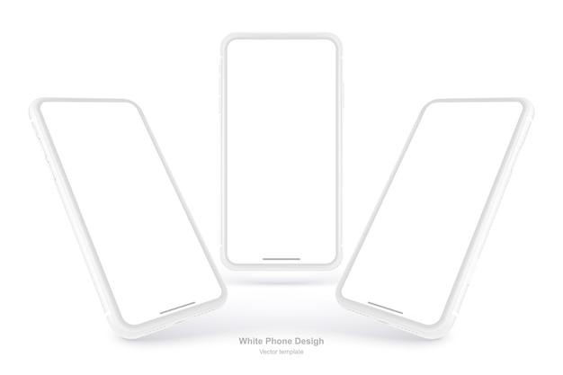 Téléphone vecteur blanc isolé