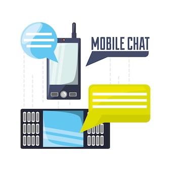 Téléphones cellulaires avec communication de bulles de chat