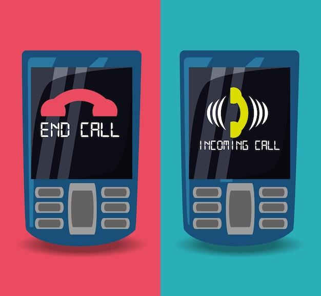 Téléphones portables avec appel et fin d'appel