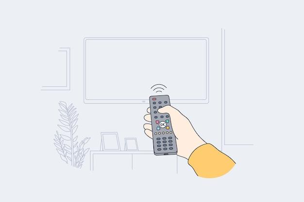 Télévision, concept de divertissement à domicile