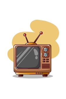 Télévision rétro isolé sur blanc