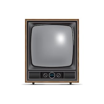 Télévision de style rétro avec écran carré