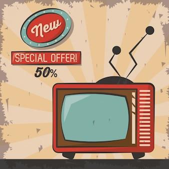 Télévision de technologie vintage